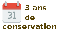 3 ans conservation